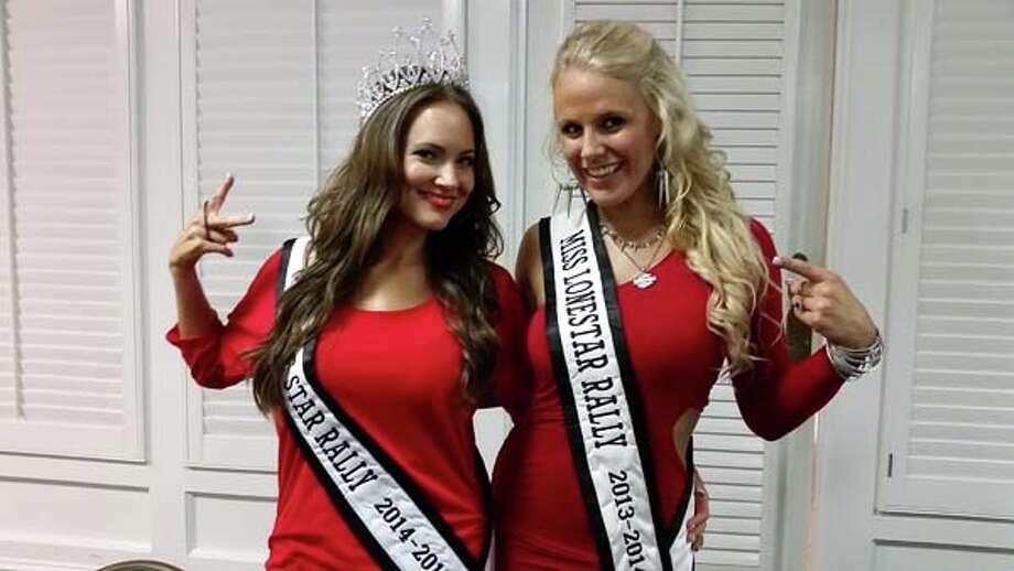 2014 Miss Lone Star Rally Lindsay Bonin, left, with former Miss Lone Star Rally Mamie Stewart. Photo: Lone Star Rally