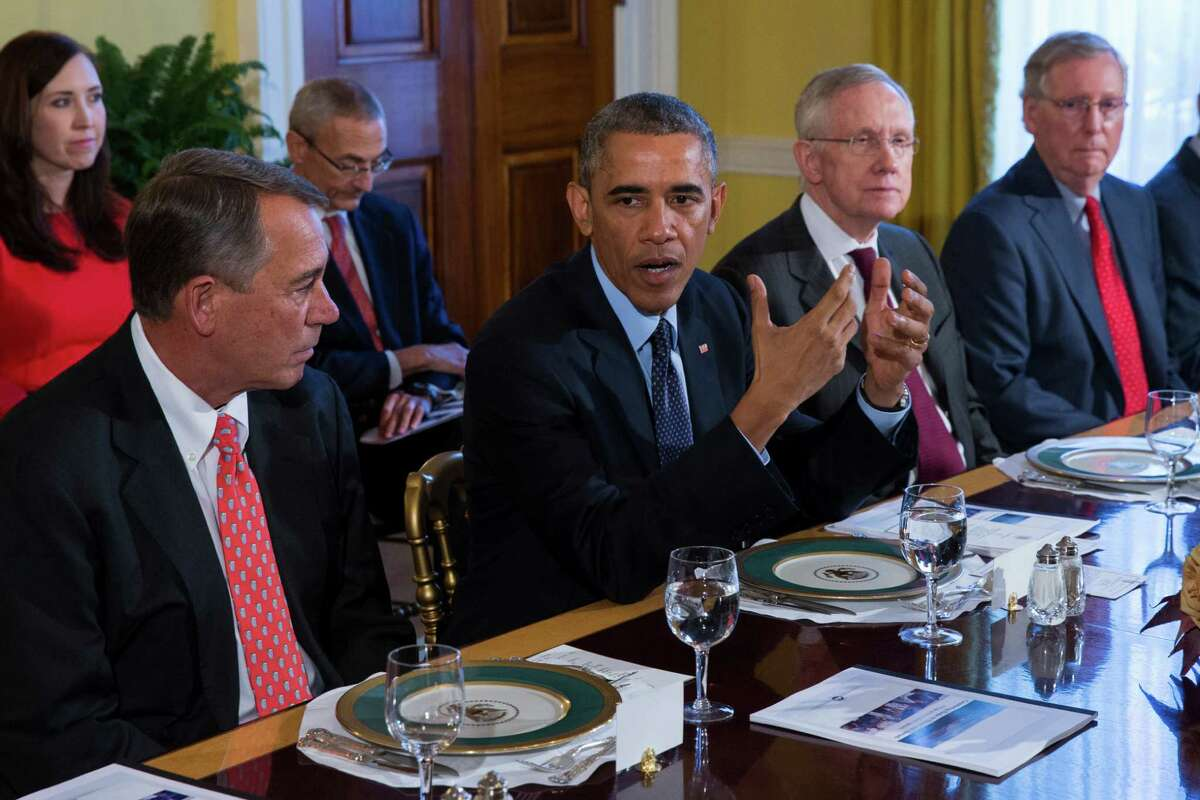 President Barack Obama meets with congressional leaders in the White House. Readers comment on the midterm election.