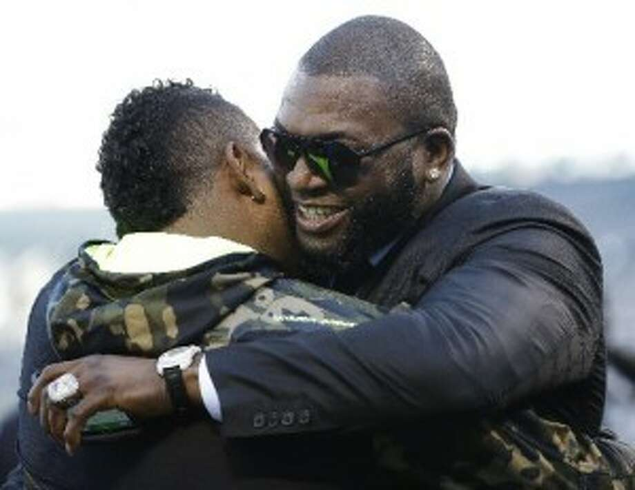 """When the Red Sox's David Ortiz hugged Pablo Sandoval at the World Series, he might have been channeling Dave Loggins and singing, """"Please Come to Boston."""""""
