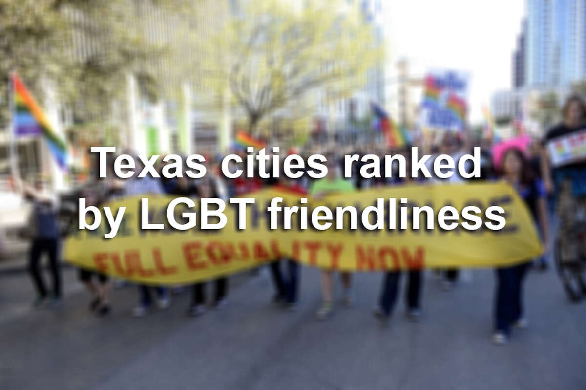 The Human Rights Campaign has released its annual Municipal Equality Index for 2014, measuring cities' friendliness toward members of the LGBT community. Scroll through to see which Texas cities are the most friendly toward the LGBT community - and which are the least.