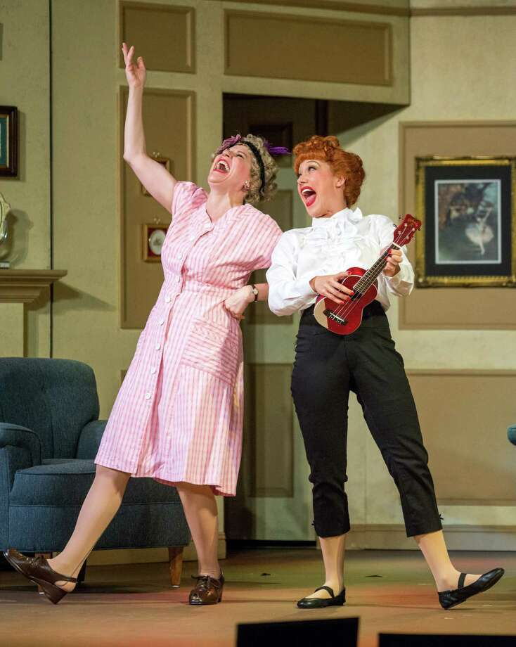 """Best chum and co-conspirator Ethel Mertz (Lori Hammel) belts out a number with Lucy Ricardo (Thea Brooks) in """"I Love Lucy on Stage,"""" at the Curran Theatre in San Francisco. Photo: Ed Krieger / ONLINE_YES"""