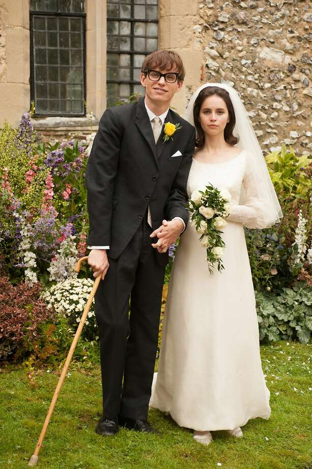 "Eddie Redmayne stars as Stephen Hawking and Felicity Jones stars as Jane Wilde Academy Award winner James Marsh's ""The Theory of Everything,"" a Focus Features release.  Photo: Liam Daniel, McClatchy-Tribune News Service"