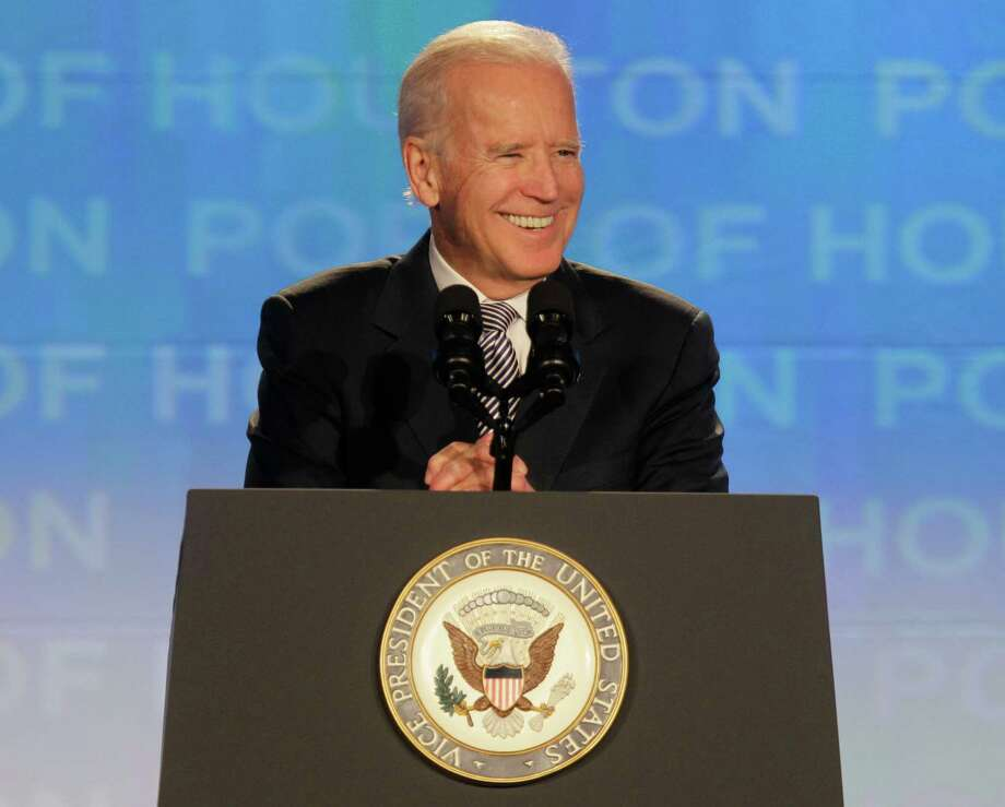 """Vice President Joe Biden tells leaders at the American Association of Port Authorities session in Houston on Wednesday, that the U.S. must invest in ports to keep """"the lifeblood of the U.S. economy"""" running efficiently. Photo: Melissa Phillip, Staff / © 2014  Houston Chronicle"""