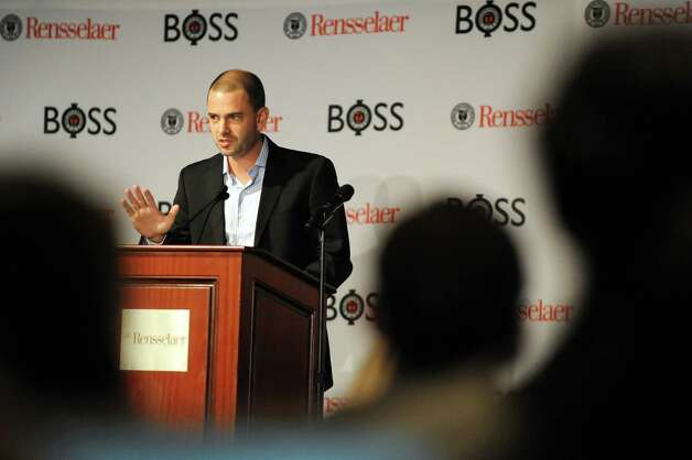 Jason Kuruzovich, director of Severino Center for Technological Entrepreneurship, speaks during the Business Opportunities to Success Summit (BOSS): Mastering the Pivot! on Wednesday, Nov. 12, 2014, at  the Hilton Garden Inn in Troy, N.Y. (Cindy Schultz / Times Union) Photo: Cindy Schultz / 00029440A