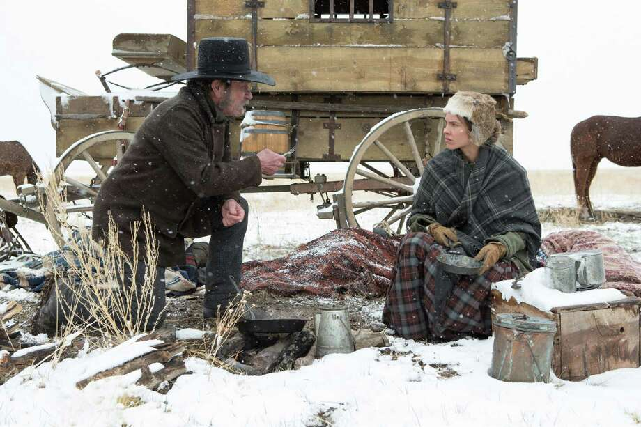 "Tommy Lee Jones and Hilary Swank in ""The Homesman."" Photo: Dawn Jones / ©Dawn Jones 2013"