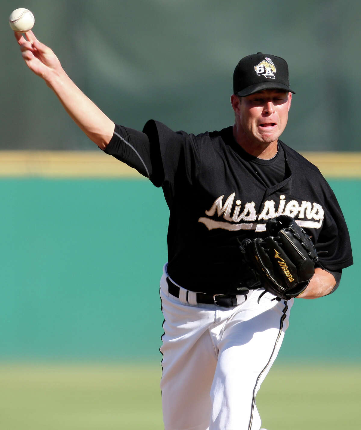 Corey Kluber pitched for the Missions in 2010 at Nelson Wolff Stadium.