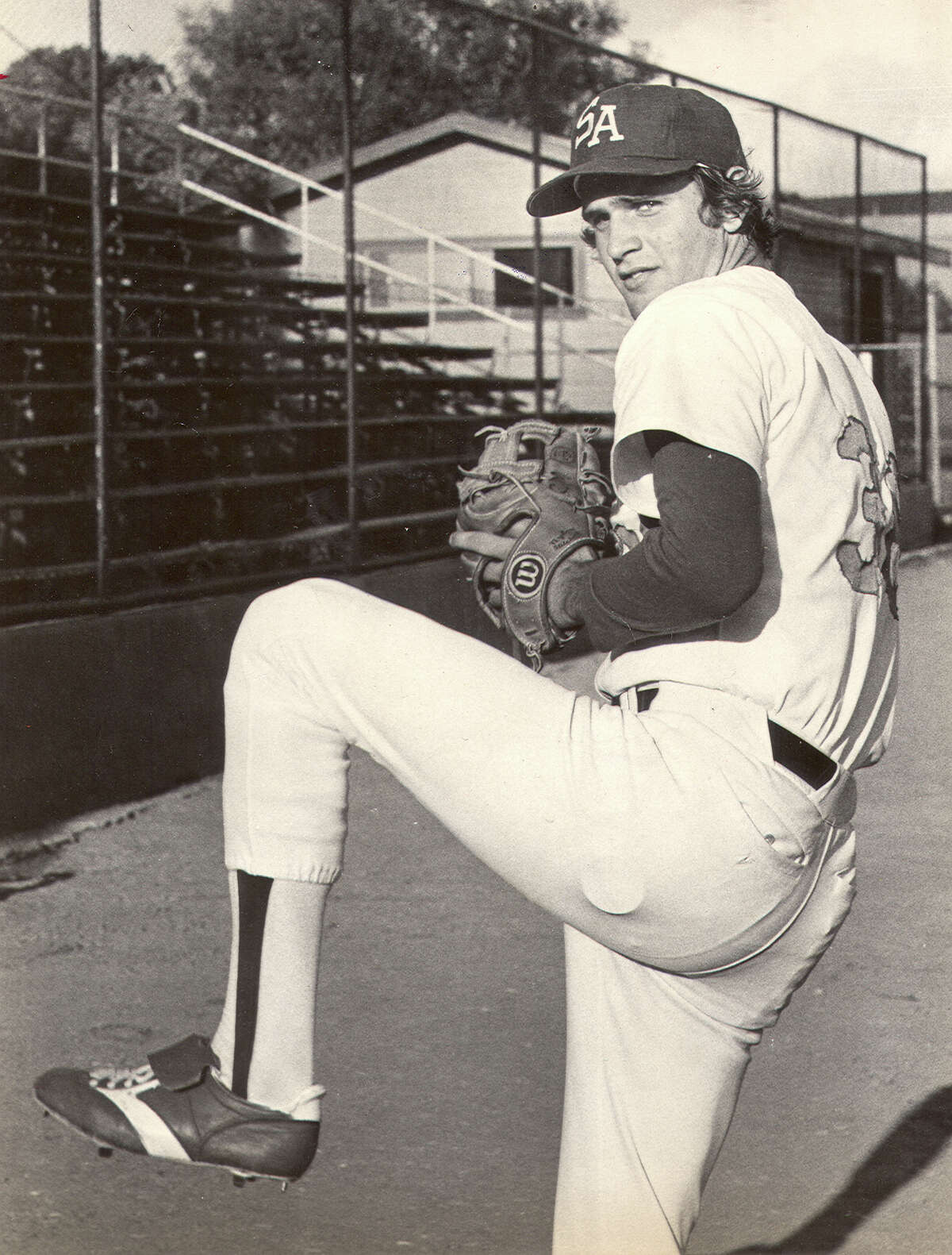 Bob Welch made his pro debut with the San Antonio Dodgers in 1977 after being a first-round draft pick out of Eastern Michigan University.