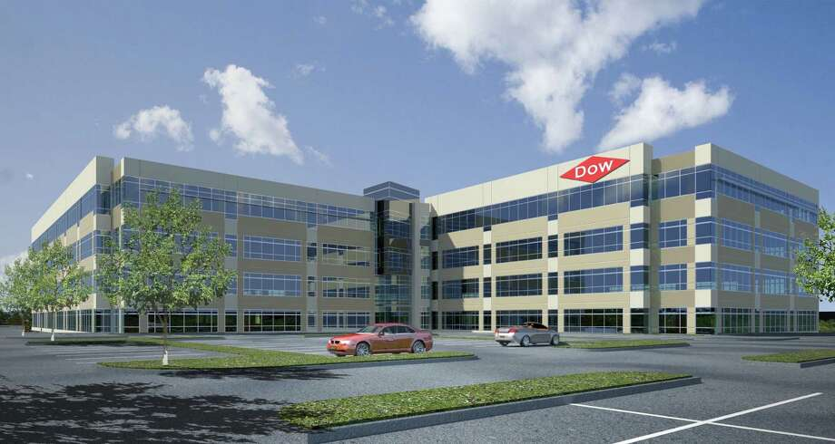 Dow Chemical's Texas Innovation Center, shown in a rendering earlier this year, is under construction in Lake Jackson. (Dow Chemical photo) Photo: Dow Chemical Co.