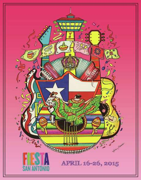 2015 Fiesta Poster by local artist Antonio Barrera. Photo: Courtesy / Courtesy /