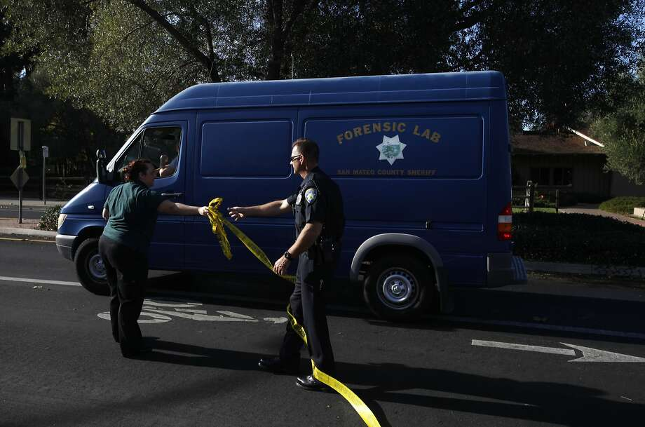 A forensic lab truck from the San Mateo County Sheriff's department arrives at the scene of a fatal officer-involved shooting Nov. 11, 2014 in Menlo Park, Calif. Photo: Leah Millis, The Chronicle