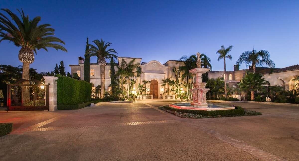 The 53,000-square-foot 'Palazzo di Amore' estate in southern California has 12 bedrooms and 23 bathrooms. It was listed at $195 million in 2014. Click through for more photos. Read more.