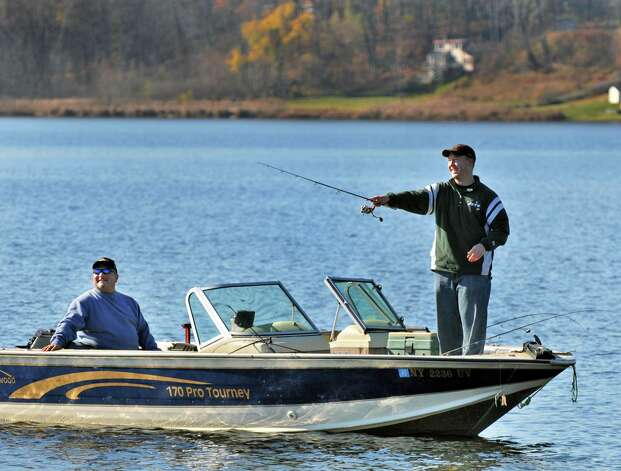 First snow and cold then more snow times union for Saratoga lake fishing