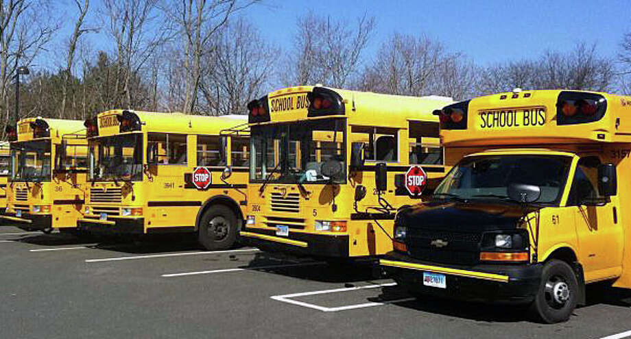 A new task force is again looking for alternate locations to park the local school bus fleet as a way to save money. Photo: File Photo / Westport News