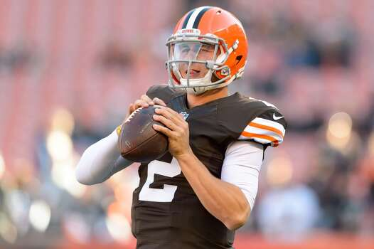 CLEVELAND, OH - OCTOBER 26: Quarterback Johnny Manziel #2 of the Cleveland Browns warms up prior to the game against the Oakland Raiders at FirstEnergy Stadium in Cleveland, Ohio. (Photo by Jason Miller/Getty Images) Photo: Jason Miller, Getty Images