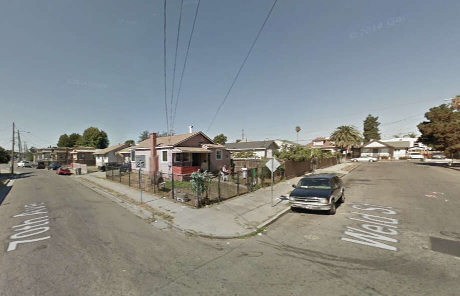 A man was shot dead at 70th Avenue and Weld Street on Wednesday. Photo: Google Maps