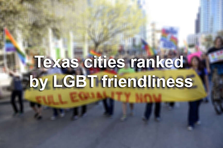 The Human Rights Campaign has released its annual Municipal Equality Index for 2014, measuring cities' friendliness toward members of the LGBT community.Scroll through to see which Texas cities are the most friendly toward the LGBT community — and which are the least. Photo: File