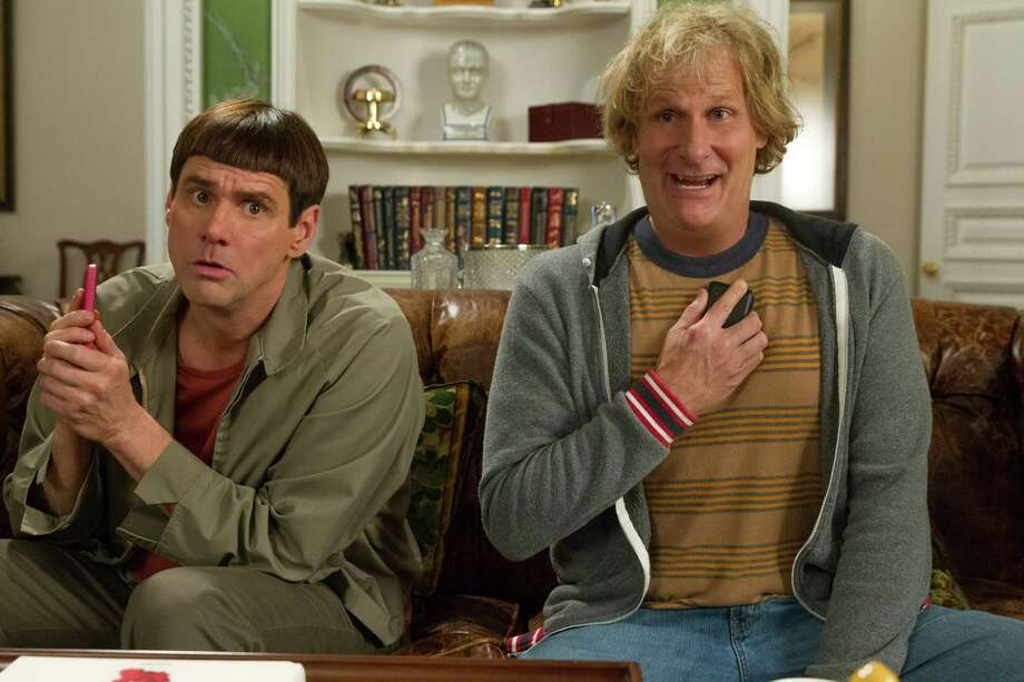 """Jim Carrey, left, and Jeff Daniels reunite as Lloyd and Harry in """"Dumb and Dumber To."""" Photo: Hopper Stone, HONS / Universal Pictures"""