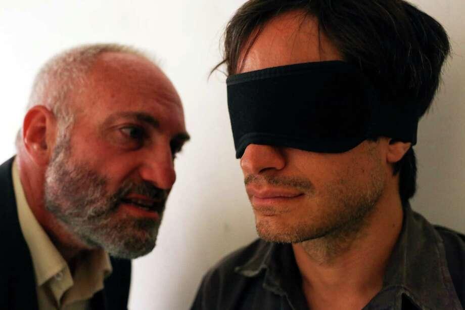 "Kim Bodnia, left, and Gael García Bernal star in ""Rosewater."" Photo: Laith Al-Majali, HONS / Open Road Films"