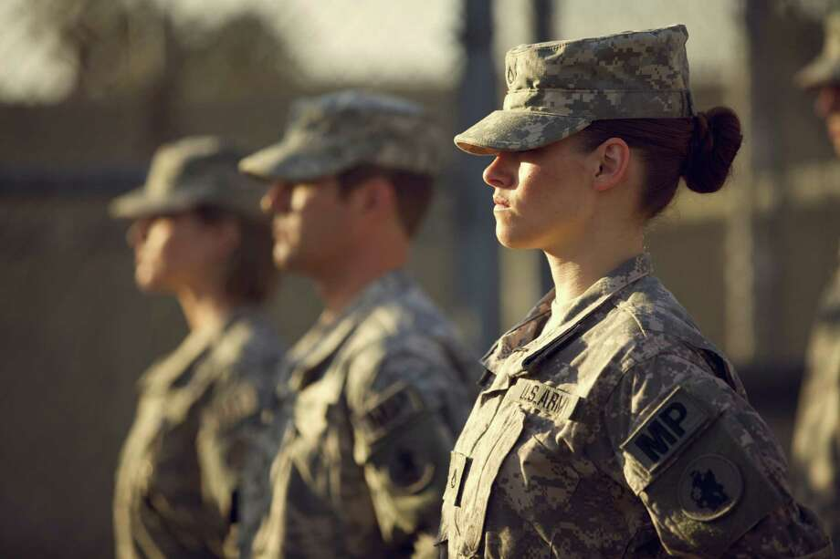 "Kristen Stewart stars as a Guantanamo prison guard in the drama ""Camp X-Ray,"" which also is available on streaming sites such as Amazon.com and iTunes. Photo: Beth Dubber / San Antonio Express-News"
