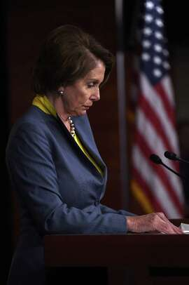 House Minority Leader Nancy Pelosi, .D-San Francisco, answers questions during her weekly press conference Thursday. (Photo by Win McNamee/Getty Images)