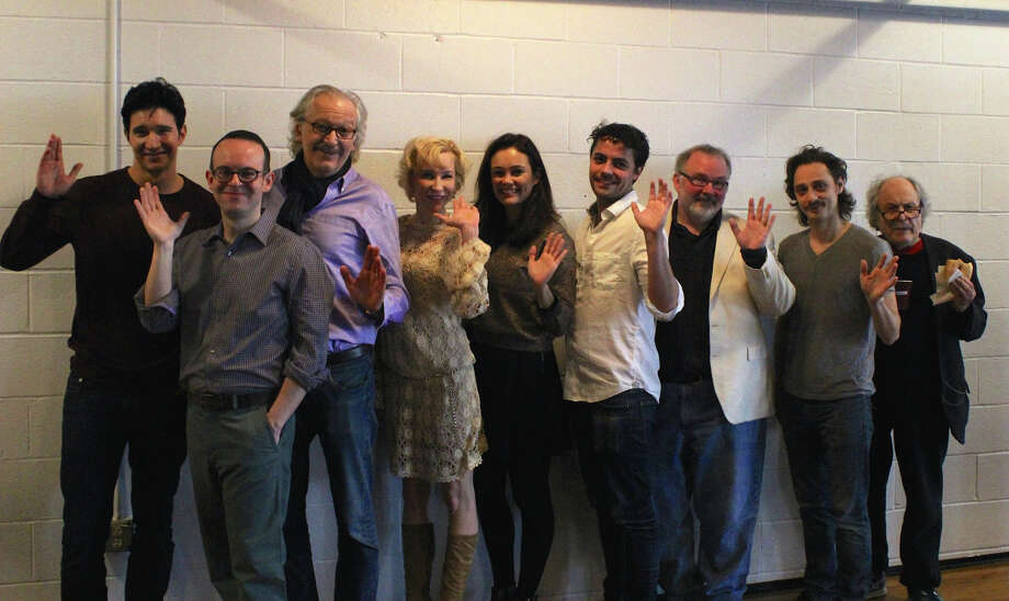 """Veteran character actor David Margulies (far right) in a first day of rehearsal shot for """"Picasso at the Lapin Agile,"""" which starts performances at Long Wharf Theatre Nov. 26. Photo: Contributed Photo / Connecticut Post Contributed"""