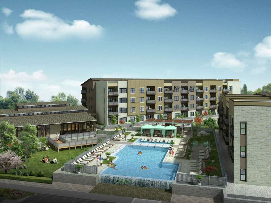 The Dwell at Legacy, an 8-acre, 289-unit apartment project by Embrey√ Partners, Ltd., is is scheduled to open June 2015 at The Legacy, the retail mega center at the northeast corner of Loop 1604 and U.S. 281.  Developer Santikos Real Estate Services hopes the apartments, which will include one- and two-bedroom units ranging in size from 500 to 1,200 square feet, complement the tenants — including Best Buy, Main Event, Life Time Fitness, Spec's and Stone Street Pub & Grill — already doing business at the 100-acre Legacy. Photo: Courtesy Of Santikos Real Estate Services, LLC.