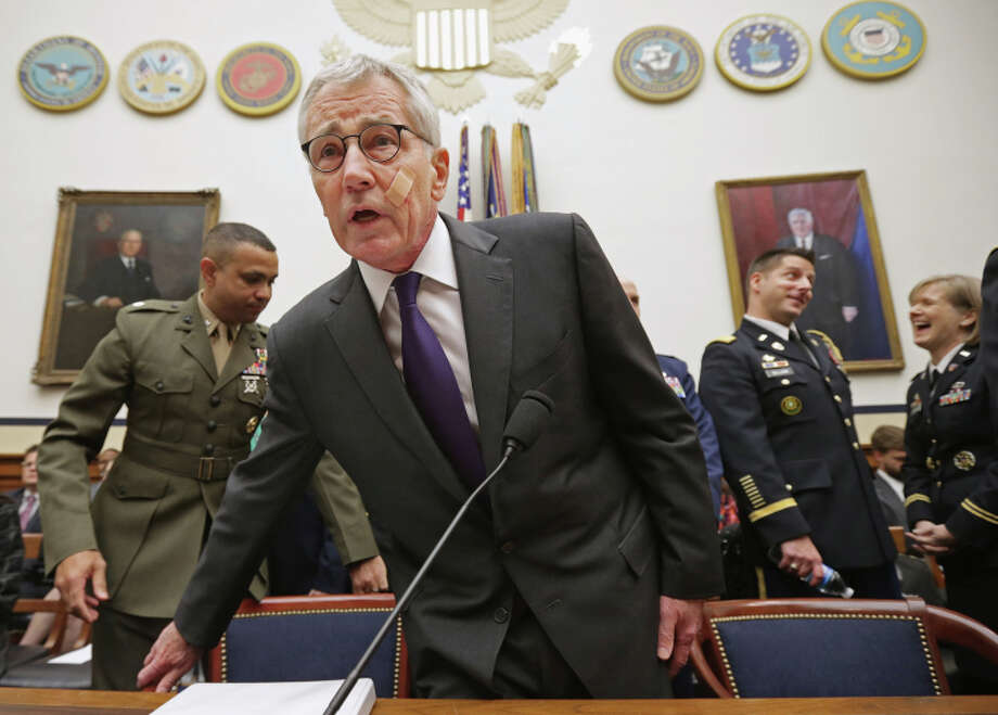 Defense Secretary Chuck Hagel testifies before Congress on the fight against the Islamic State. Photo: Chip Somodevilla / Getty Images / 2014 Getty Images