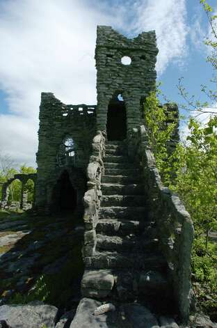 A view of the  castle structure at the Helderberg Castle  grounds in New Scotland, N.Y., on Monday, May 22, 2006.  The buildings were built by Bouck White in the 1930s. (Paul Buckowski/Times Union archive) Photo: Paul Buckowski / Albany Times Union