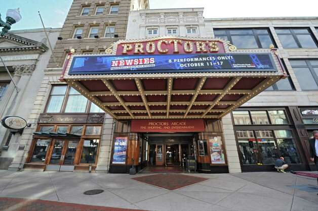 The newly renovated and modernized marquee is unveiled at Proctor's on Monday, Sept. 15, 2014 in Schenectady, N.Y. (Lori Van Buren / Times Union) Photo: Lori Van Buren / 00028616A