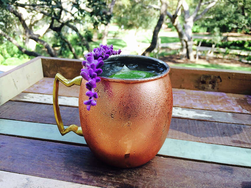 YULE TIDE MULE: 1 part Enchanted Rock Vodka, 2 parts ginger beer, fresh lime squeeze and garnished with fresh lavender.