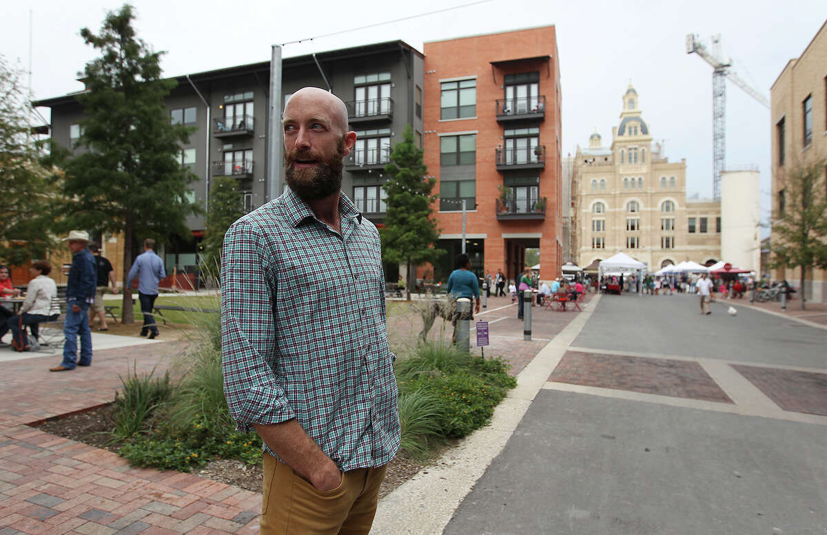 Can Plant resident Jesse Elder takes a stroll at the Pearl on Saturday, Oct. 26, 2013. Elder has lived in San Antonio most his life and recently moved to the Pearl to live and work.