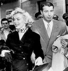 In the good times, newlyweds Marilyn Monroe and Joe DiMaggio, 1954.