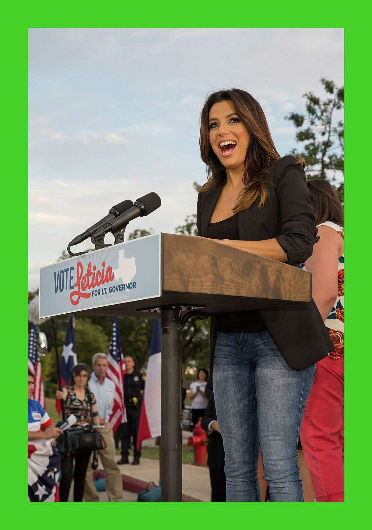 It'll take more than mere campaigns to mobilize Latinos; it will take a movement. Eva Longoria, actor, director, producer and activist speaks during the bus tour kickoff to support Leticia van de Putte for Lieutenant Governor last monthin San Antonio, Texas.
