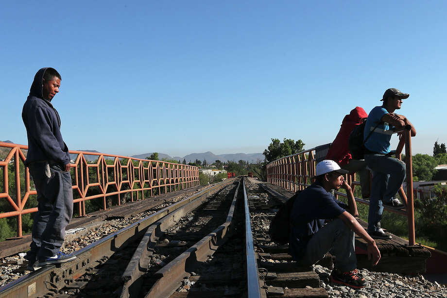 Though this photo is of Central American immigrants gathering by a railroad bridge in Saltillo, Mexico, there are some segments in the U.S. who say there is no room on our train for newcomers. Photo: Jerry Lara / Jerry Lara / San Antonio Express-News / @San Antonio Express-News