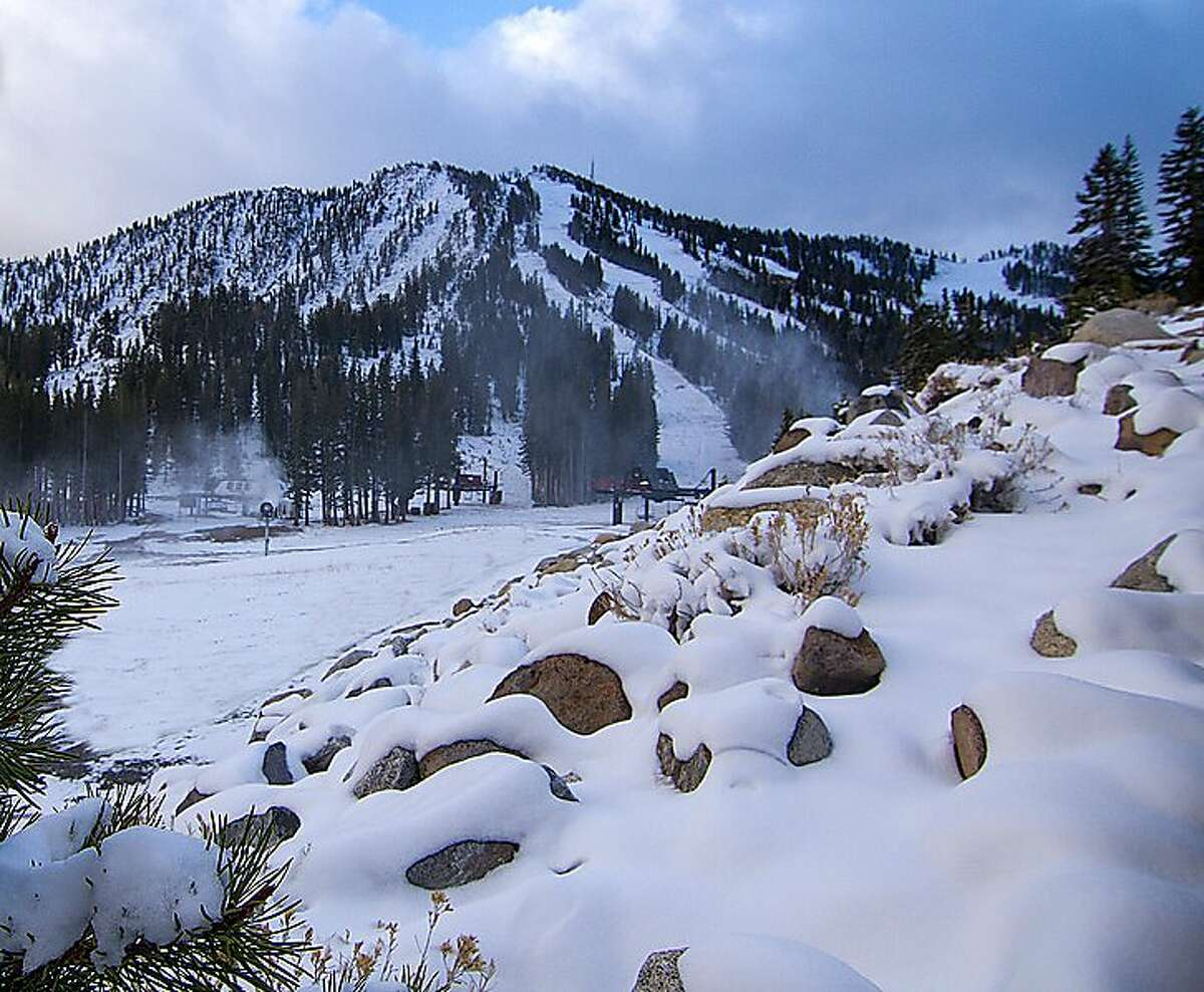 Early November snowfall at Mount Rose, with a base at 8,260 feet, can get snow when lower-elevation resorts get rain