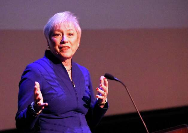 Nancy L. Zimpher, Chancellor of SUNY give her keynote address at the Creative Economy Summit Thursday morning Nov. 13, 2014 in Schenectady, N.Y.    (Skip Dickstein/Times Union) Photo: SKIP DICKSTEIN / 00029436A