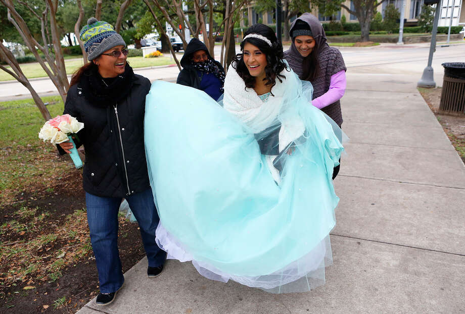 #GrowingUpInHouston always seeing at least one girl in her quinceañera dress near Hermann Park on the weekends -- @ratchetmehar Photo: Cody Duty, Staff / © 2014 Houston Chronicle