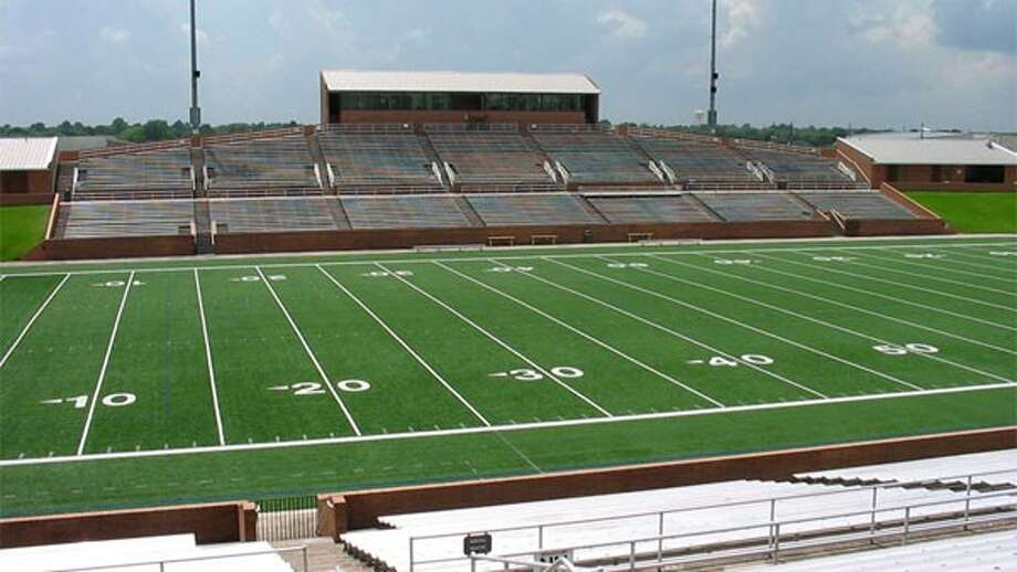 Rhodes Stadium (Katy)1733 KatylandSeating capacity:	9768 Opened: 1979Source: TexasBob.com Photo: Courtesy
