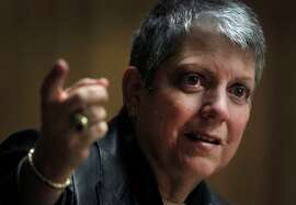 University of California President Janet Napolitano meets with the Chronicle Editorial Board in San Francisco on Nov. 12.