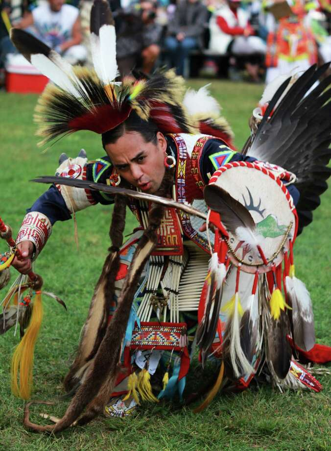 Dancers with the New York City-based Redhawk Native American Arts Council, such as the one pictured, will be at the Bruce Museum in Greenwich, Conn., on Sunday, Nov. 23, 2014 for Family Day activities that will celebrate Native American Heritage Month. Photo: Contributed Photo / Stamford Advocate Contributed photo