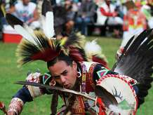 Dancers with the New York City-based Redhawk Native American Arts Council, such as the one pictured, will be at the Bruce Museum in Greenwich, Conn., on Sunday, Nov. 23, 2014 for Family Day activities that will celebrate Native American Heritage Month.
