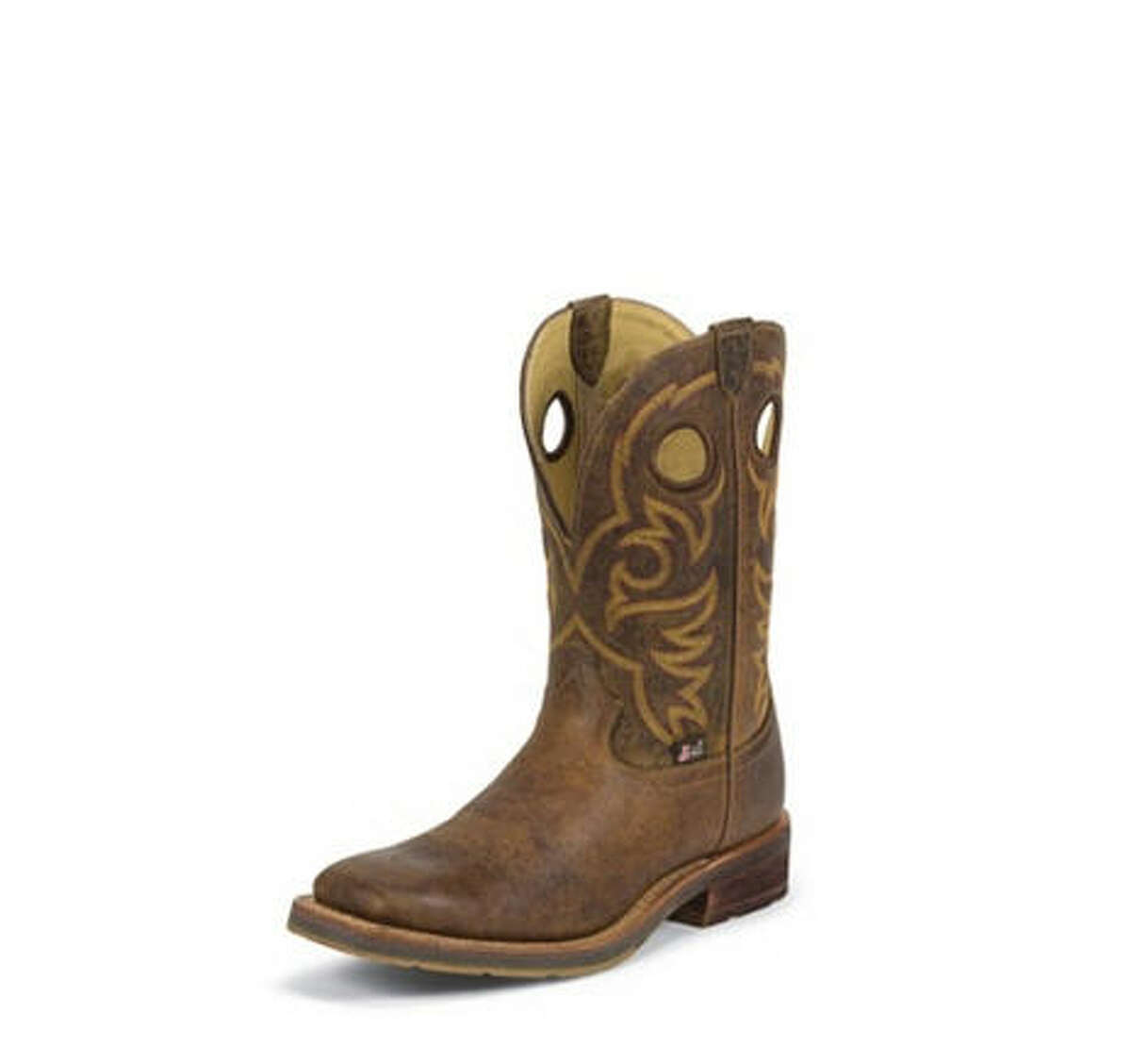 Justin Boots H.J. Justin founded the bootmaker in 1879 in Spanish Fort. In 1910 a pair of Justin boots was only $11. These days they are a bit more than that. The author is even wearing a pair now. He says they give him special writing powers, though that is debatable.