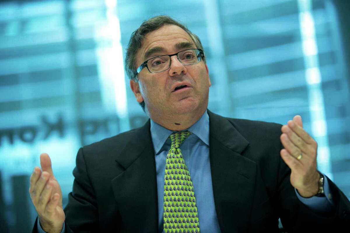 Ben Baldanza, president and chief executive officer of Spirit Airlines Inc., speaks during an interview in New York, U.S., on Friday, Nov. 7, 2014. Spirit Airlines Inc. low-fare, high-fees model requires Spirit to eliminate every possible cost from its operation. The seats won't recline, there's no free water, it's all part of the bargain. Photographer: Scott Eells/Bloomberg *** Local Caption *** Ben Baldanza