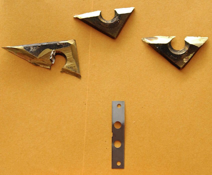 Search team members recently found these sharpened pieces of metal hidden inside the door of a death row cell at the Polunsky Unit in Livingston.