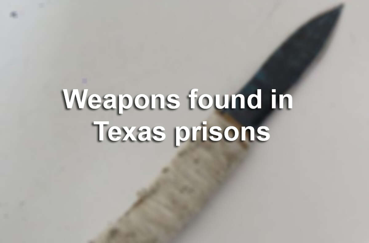 Officials with the Texas Department of Criminal Justice have seized more than 1,400 makeshift weapons from Texas inmates in 2014. In 2013, officials seized more than 1,700. Scroll through for a glimpse at some of the weapons inmates have tried to hide.