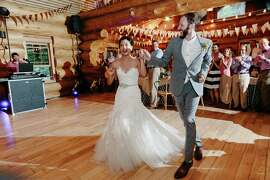 "Stephanie and James made their entrance dancing to Hall & Oates ""You Make My Dreams."" Tunes were spun by their friend, DJ Wayne Noel of Golden State Productions, and later on in the night, by DJ Dino Ornido (who is also Stephanie's brother-in-law)."