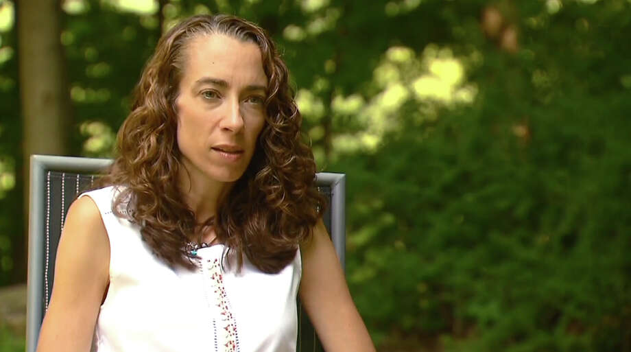 Lindsey Rogers-Seitz seen on a News12 Connecticut video talking about her son Benjamin Seitz who died in a hot car in July. Photo: Contributed Photo / Connecticut Post Contributed