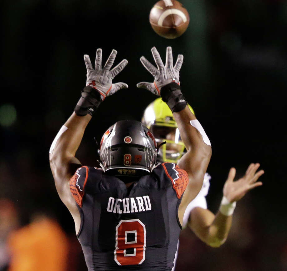 Utah defensive end Nate Orchard ranks second in the nation with 13 sacks and is second on the team with 63 tackles. Photo: Rick Bowmer / Associated Press / AP