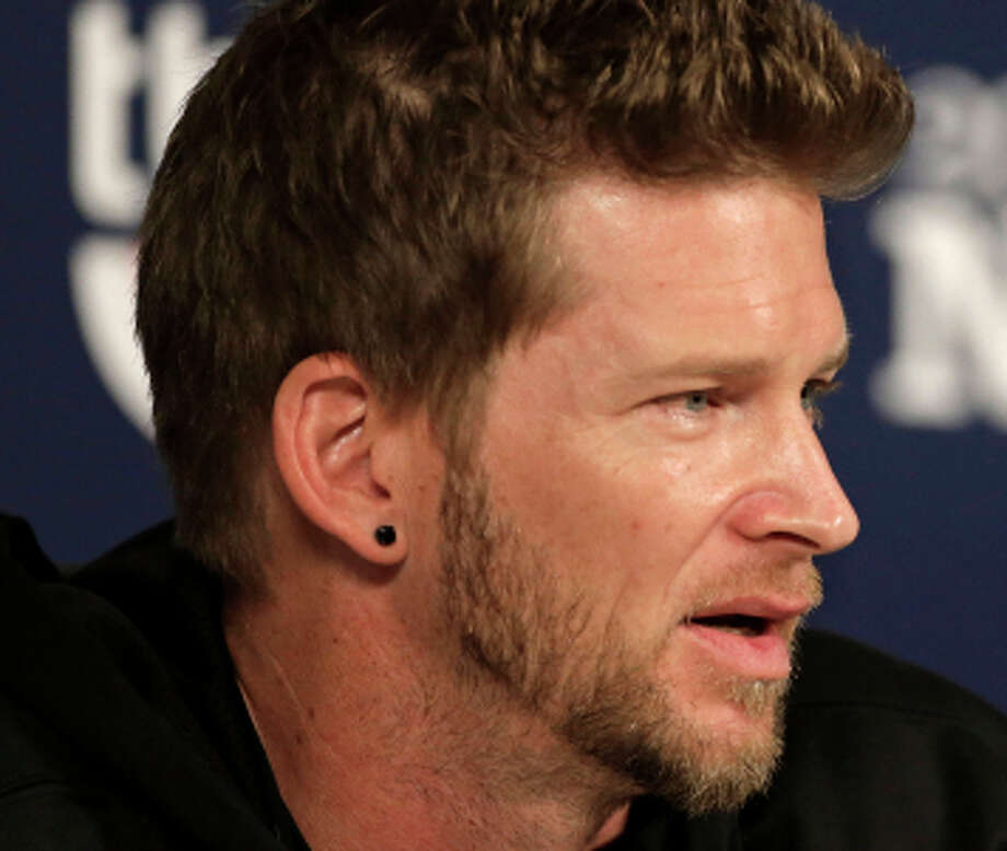 Pittsburgh Pirates pitcher A.J. Burnett answers questions during a news conference on Wednesday, Oct. 2, 2013, in St. Louis. Burnett is scheduled to be the Pirates' starting pitcher against the St. Louis Cardinals for Game 1 of the National League Division Series baseball playoff on Thursday. (AP Photo/Charlie Riedel) Photo: Charlie Riedel / Associated Press / AP