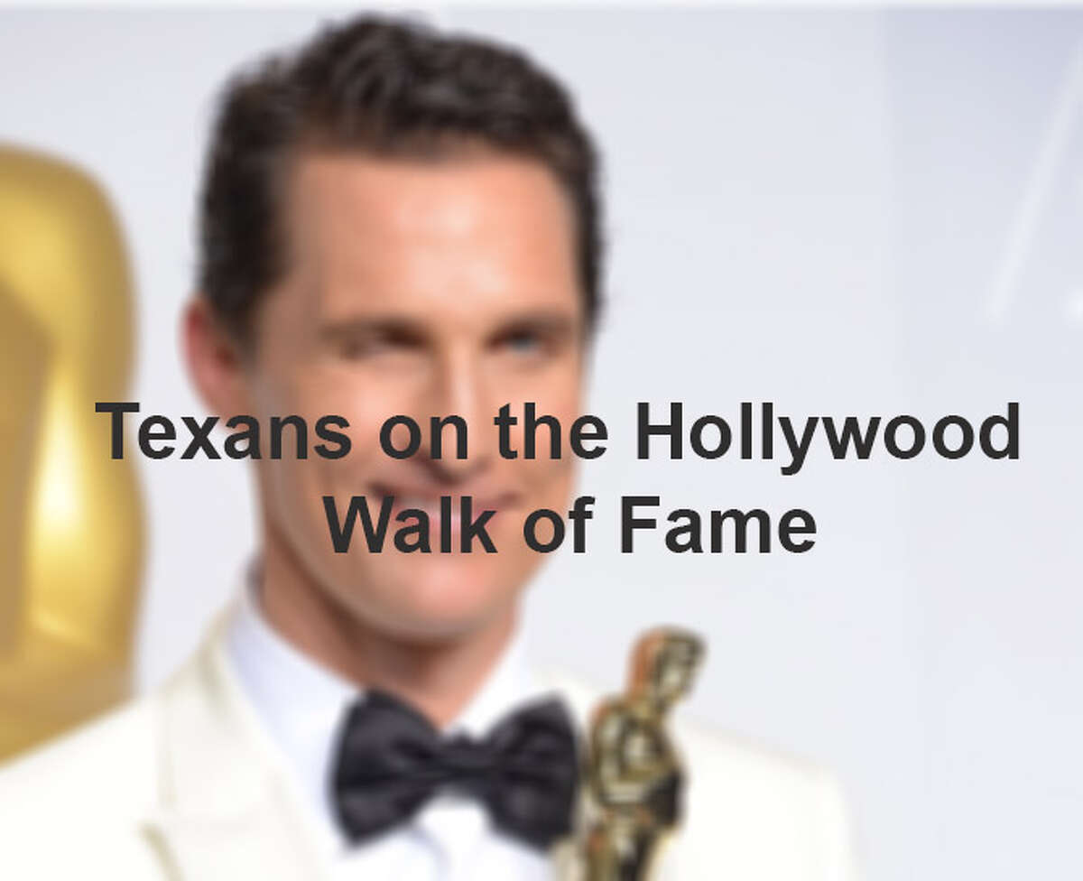 Texans on the Hollywood Walk of Fame